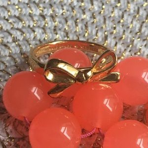 EUC Kate Spade ♠️ Gold Bow Ring